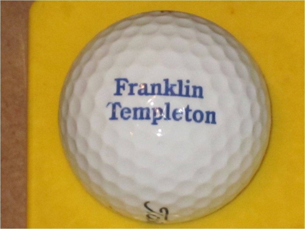Franklin Templation Financial Franklin Templeton Logo Golf Ball Ebay