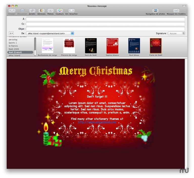 christmas email stationery templates free