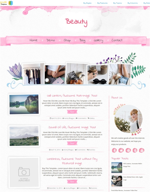 photography blog template