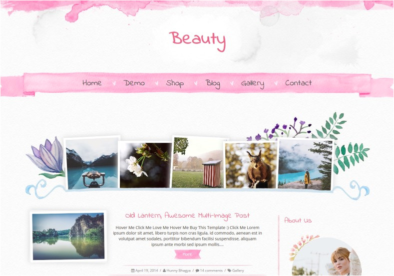 Free Beauty Blog Templates Beauty Blogger Template Blogspot Templates 2018