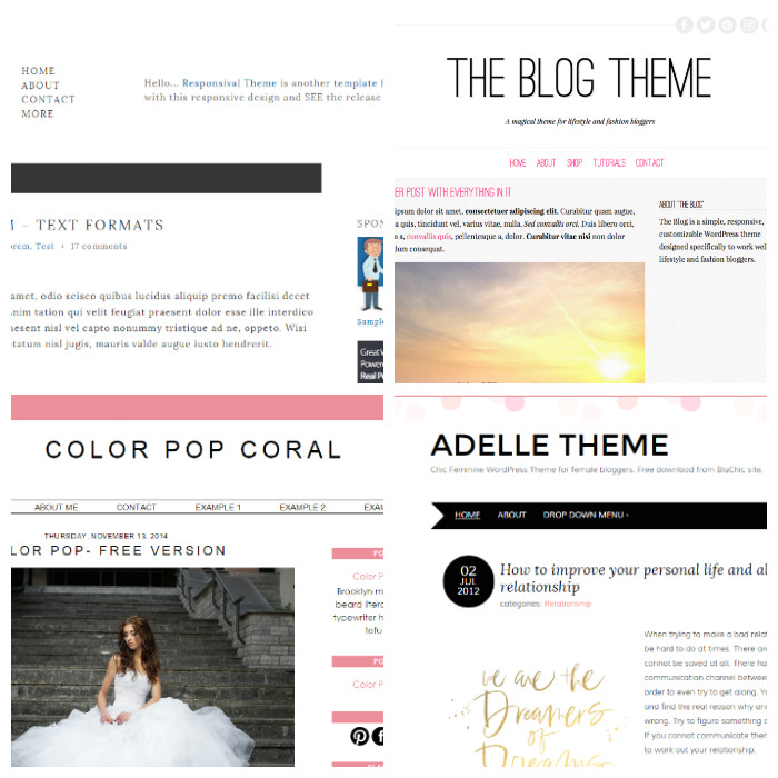 five of best free blog templates m 1