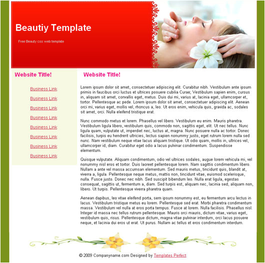 Free Beauty Blog Templates Free Beauty Spa Blog Template Templates Perfect