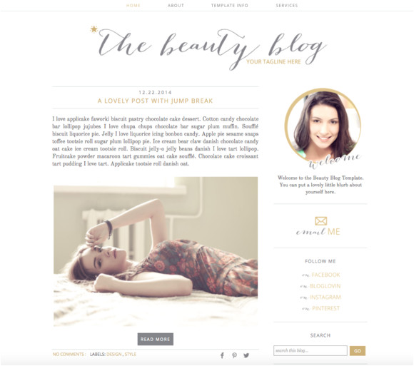 68684 premade blogger template beauty