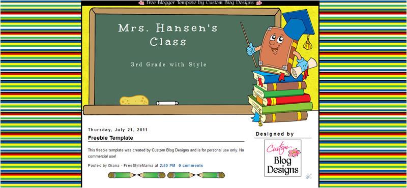 freebie teacher blogger template