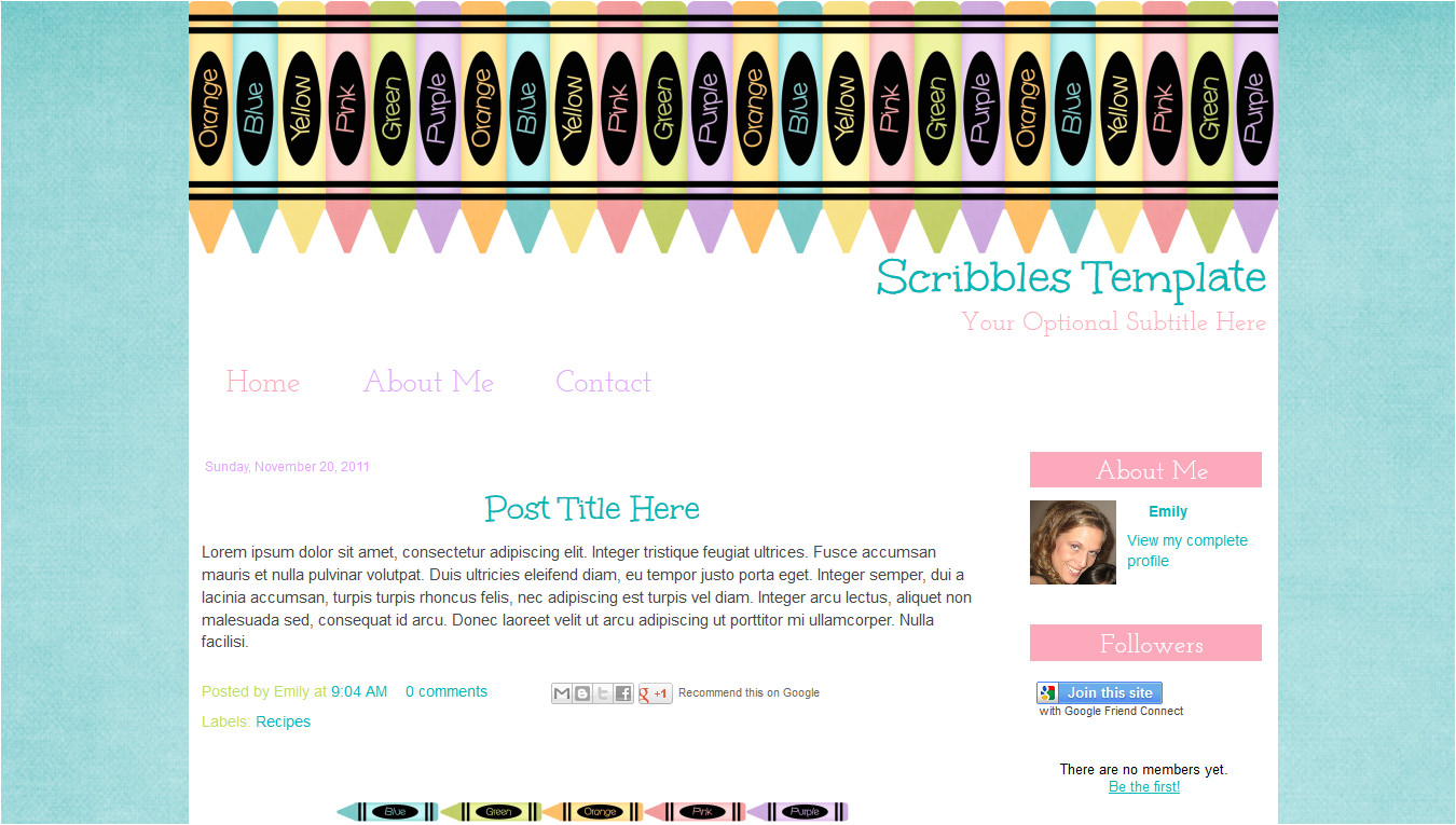 scribbles blog template