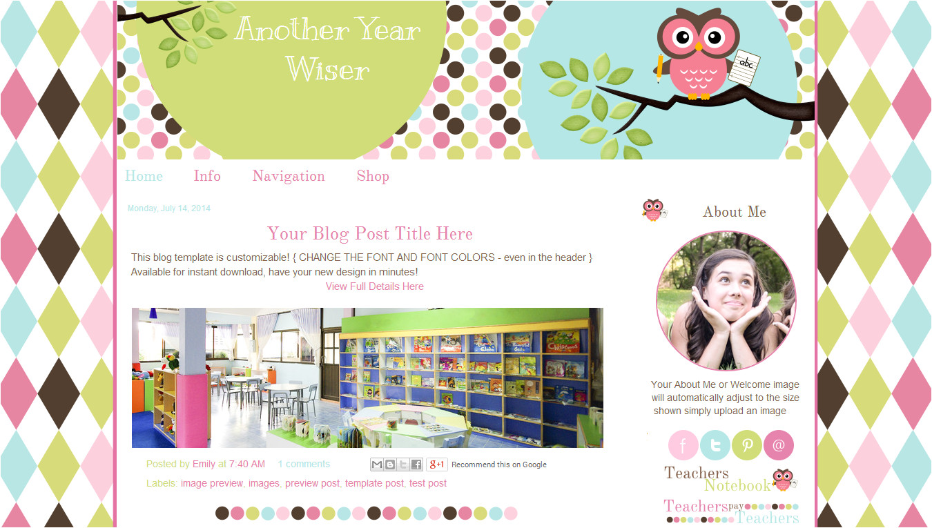 another year wiser blog template