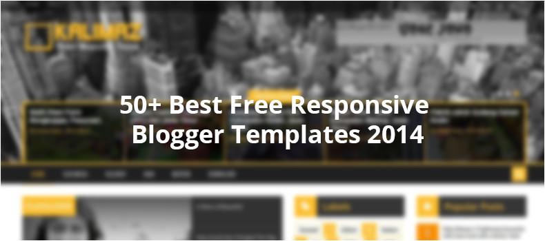 50 best free responsive blogger templates 2014