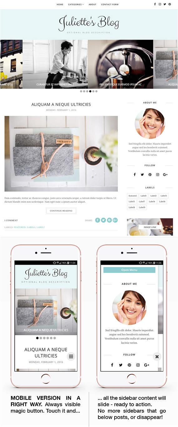 blogger template responsive blogger