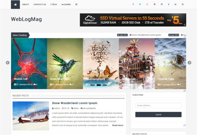 weblogmag responsive professional