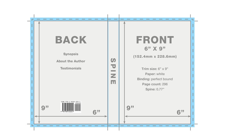 book cover template layout service