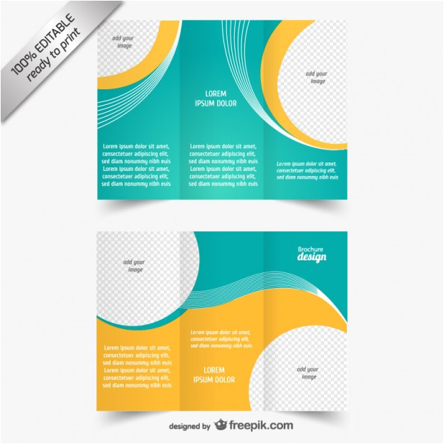 blue and yellow brochure template 719239