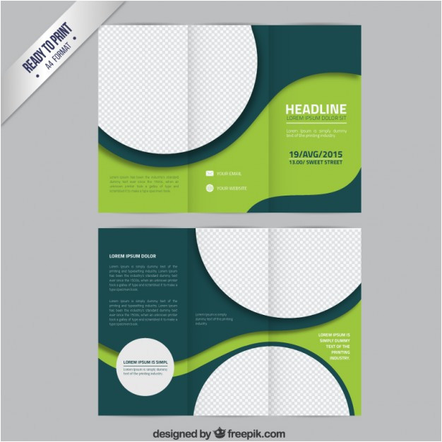 green brochure template with circles 788017