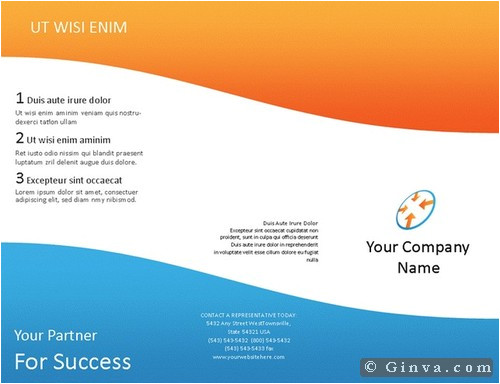 Free Brochure Template Downloads for Microsoft Word Download Free Microsoft Office Brochure Templates Ginva