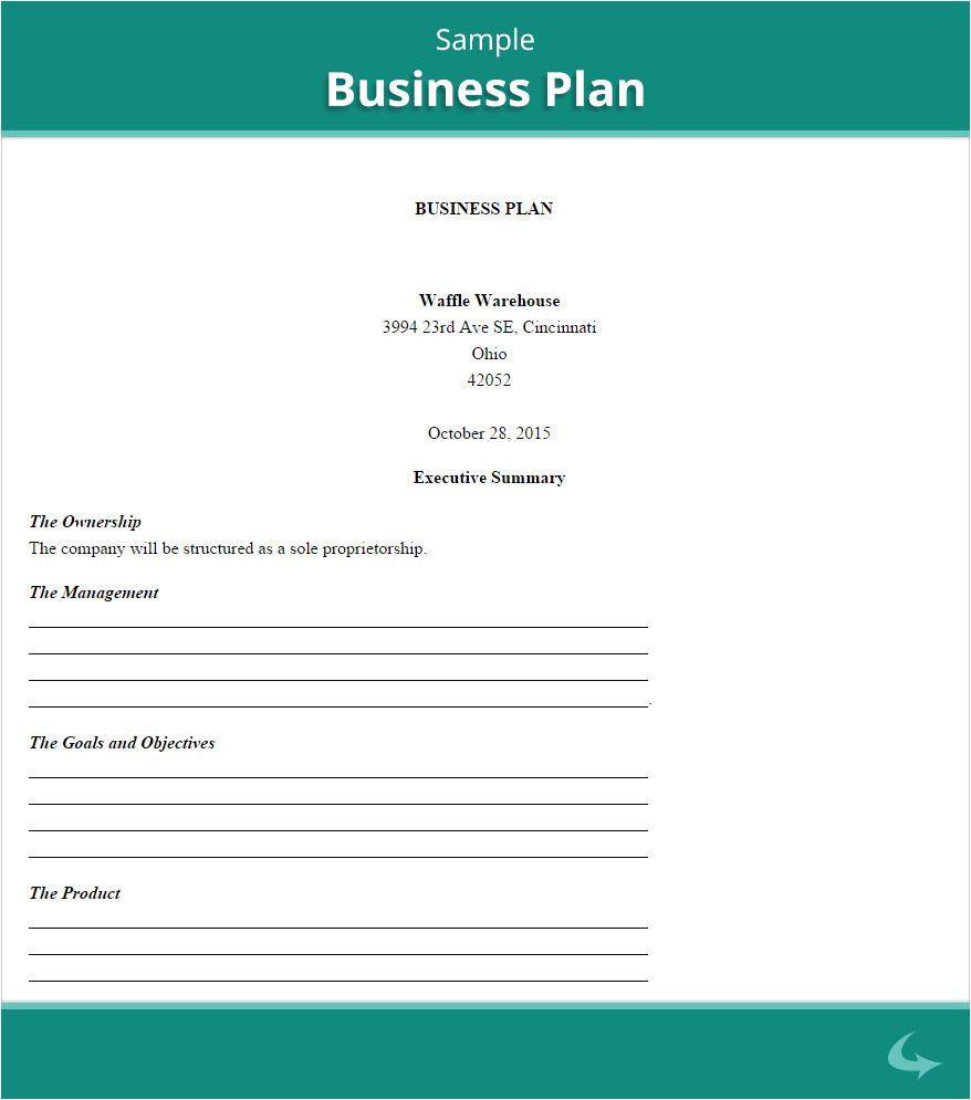 business plan proposal sample