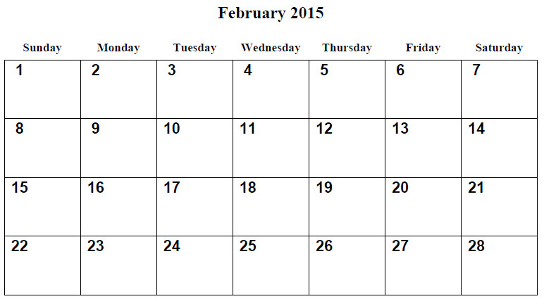 post free printable february 2015 calendar 208783