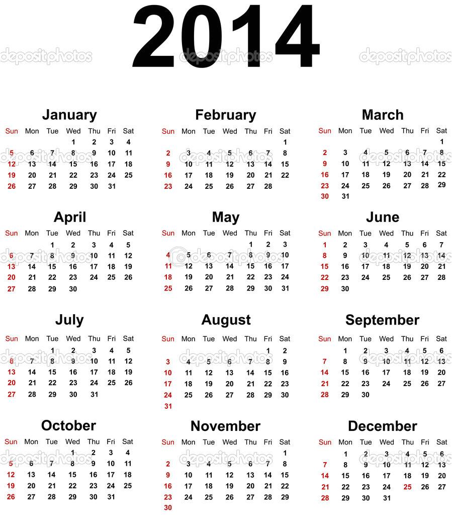 2014 calendar printable free canada