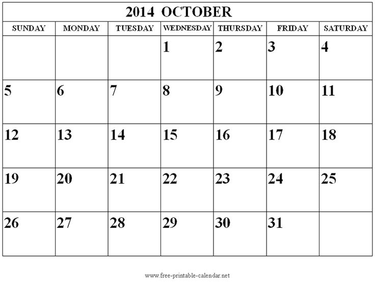 free calendar templates 2014 canada