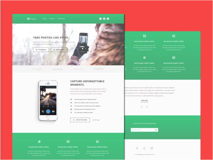 Free Capture Page Templates Capture Free Bootstrap Landing Page Template Freebiesjedi