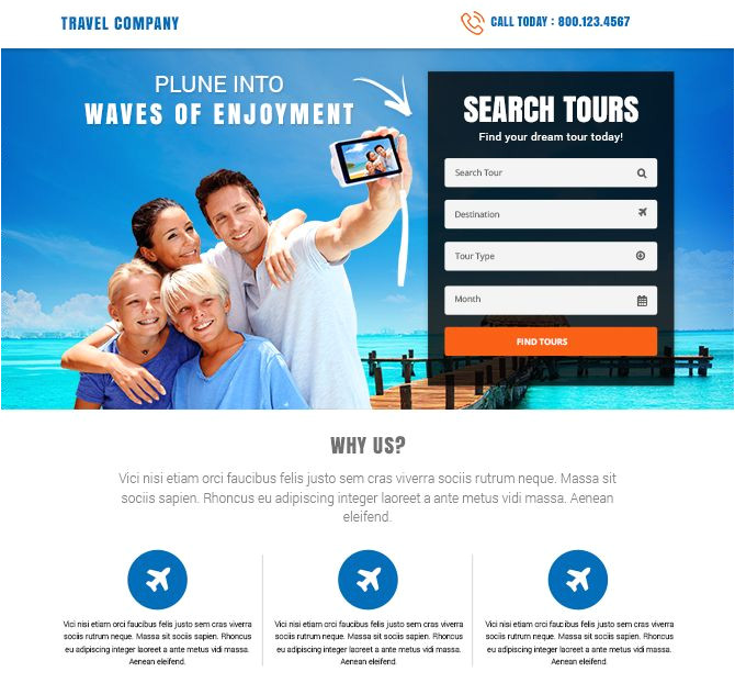 free lead capture page templates best tours and travel landing pages