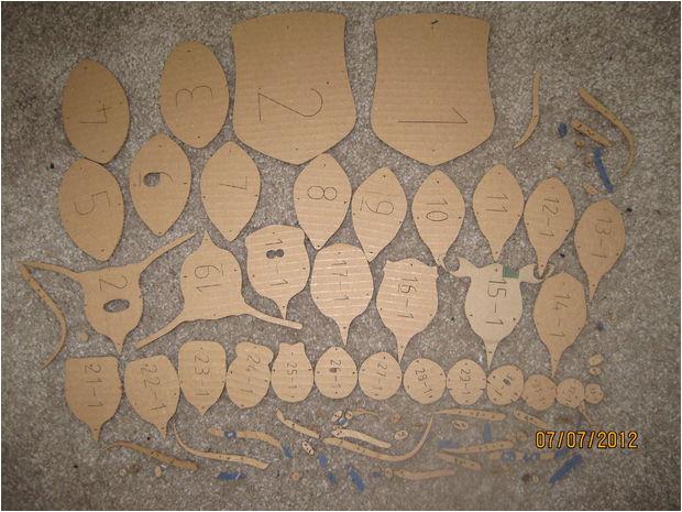 cardboard trophy wall