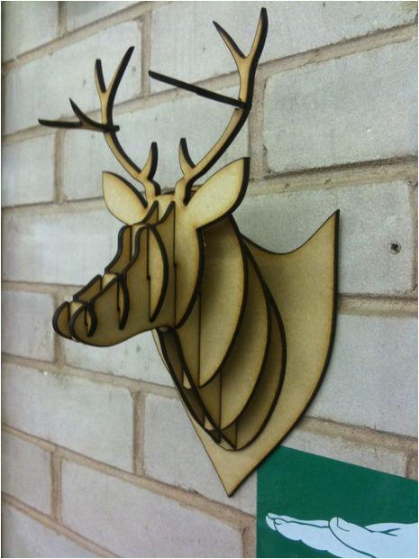 mdfacryliccardboard deer head taxidermy
