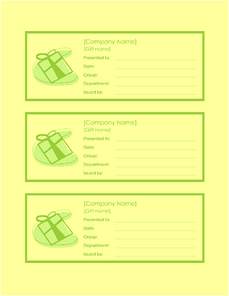 employee gift certificate template word 2010 1518