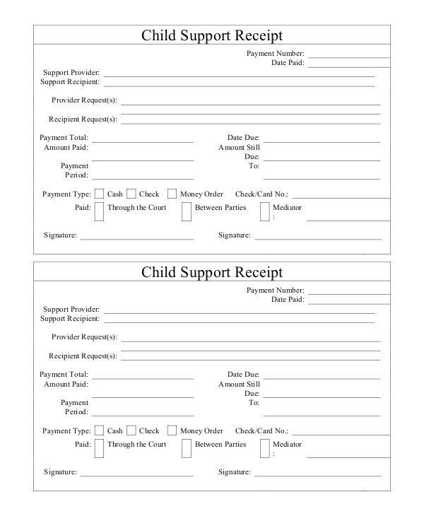 Free Child Support Receipt Template 15 Receipt Templates Free Premium Templates