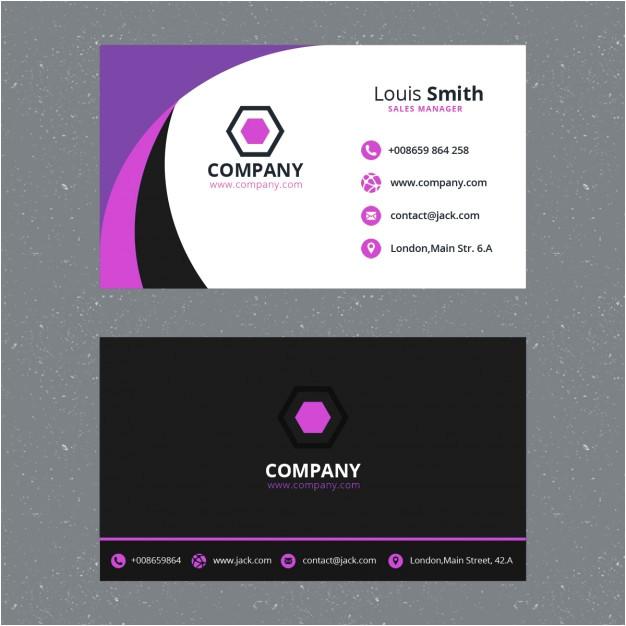 purple business card template 928834