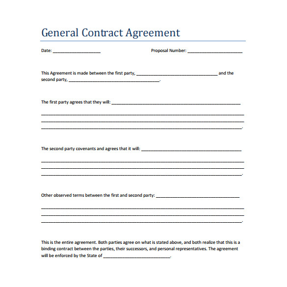 Free Contract Templates for Small Business 19 Perfect Examples Of Business Contract Templates Thogati