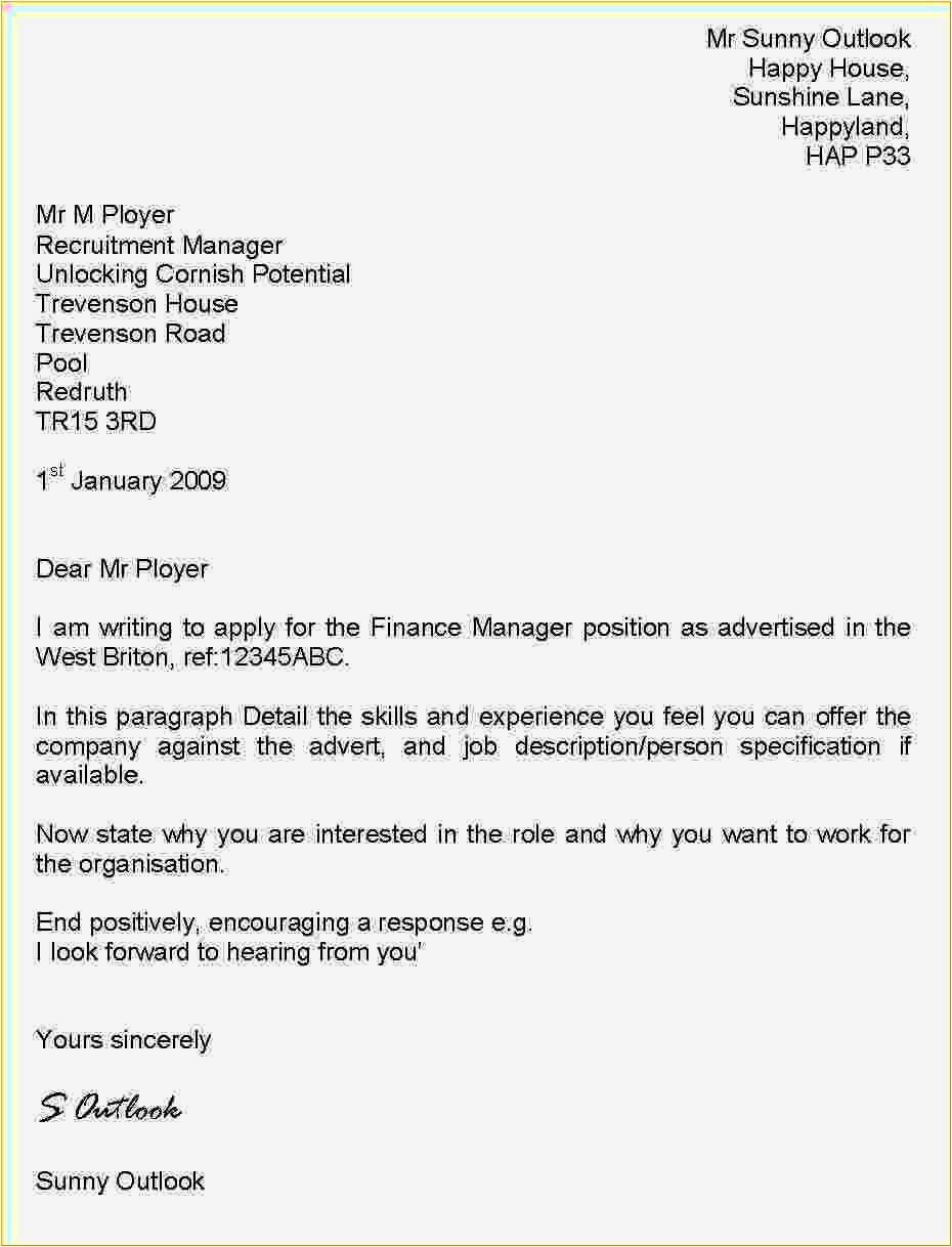template cover letter uk free
