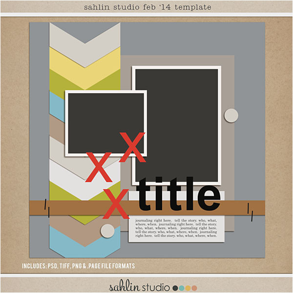 Free Digital Scrapbook Pages Templates Free Digital Scrapbooking Template Feb 2014 Sahlin