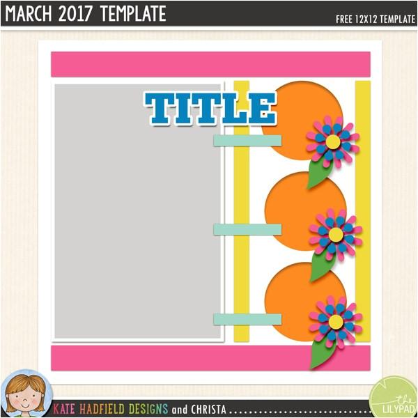 free digital scrapbooking template march challenge