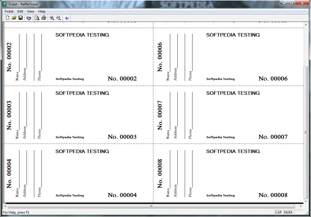 Free Downloadable Raffle Ticket Templates 6 Best Images Of Free Printable Numbered Raffle Ticket