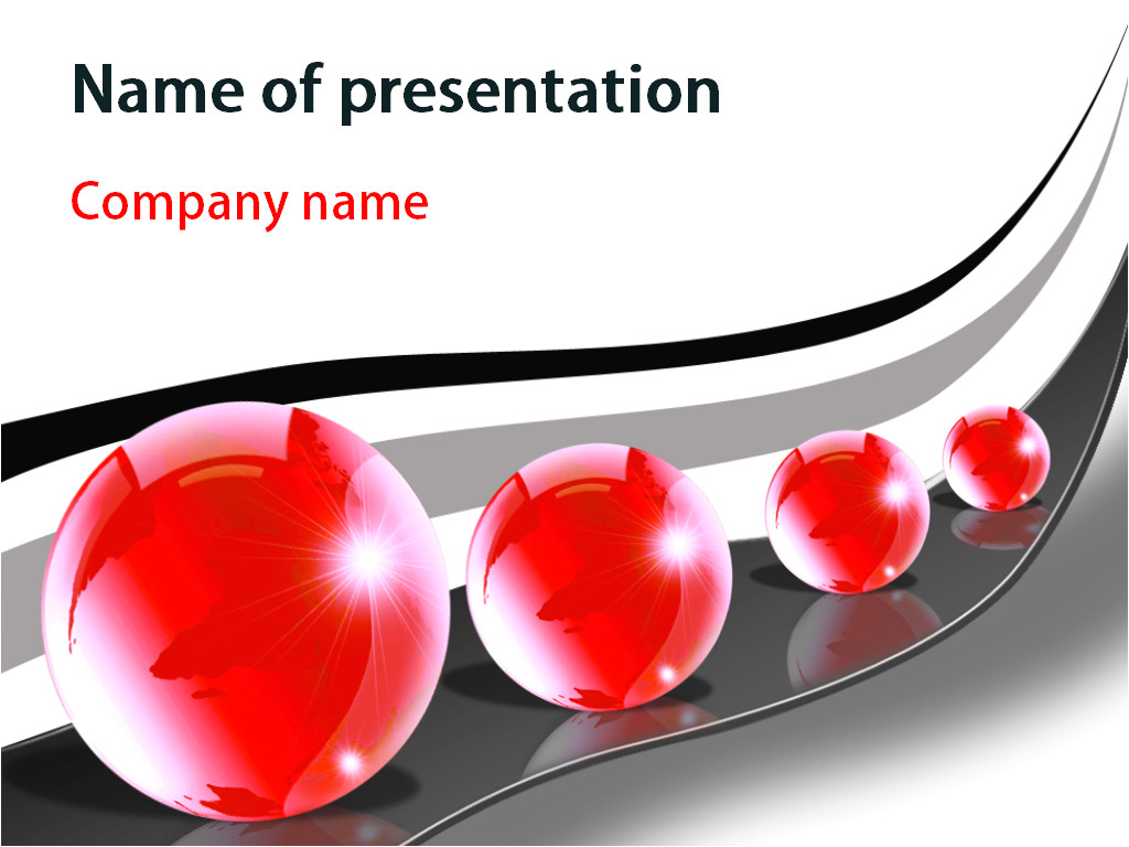 Free Downloads Powerpoint Templates for Presentations Download Free Red Bubbles Powerpoint Template for