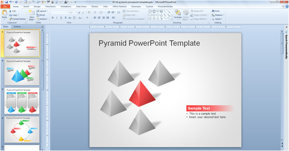free 3d pyramid template for powerpoint presentations