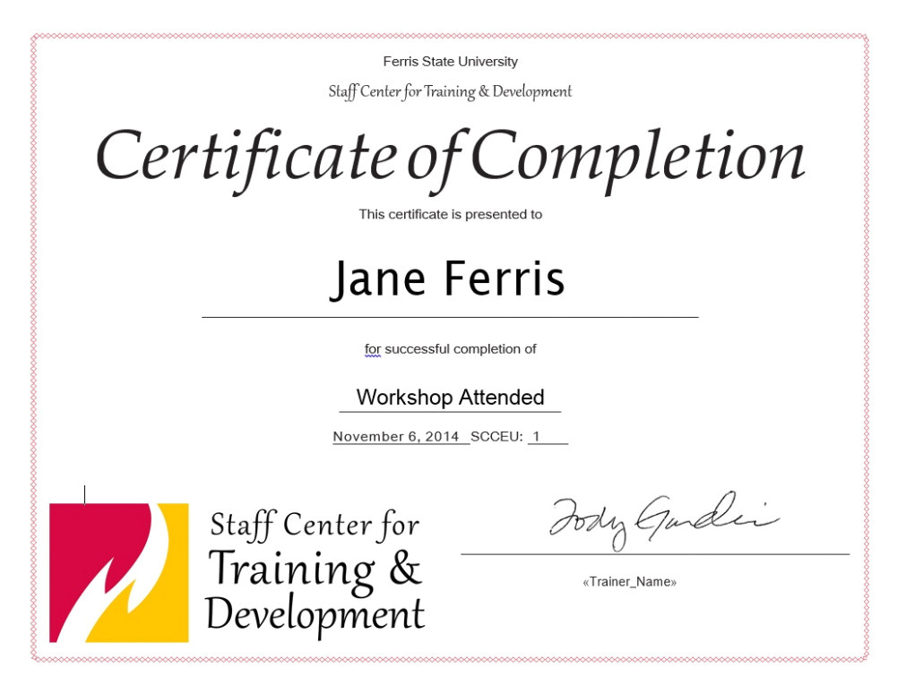 download continuing education certificate template