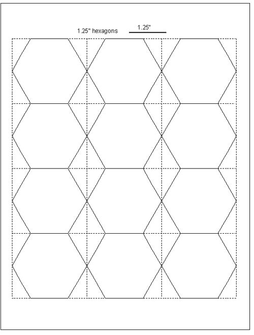 Free English Paper Piecing Hexagon Templates Tips for Cutting Hexagon Templates Geta 39 S Quilting Studio