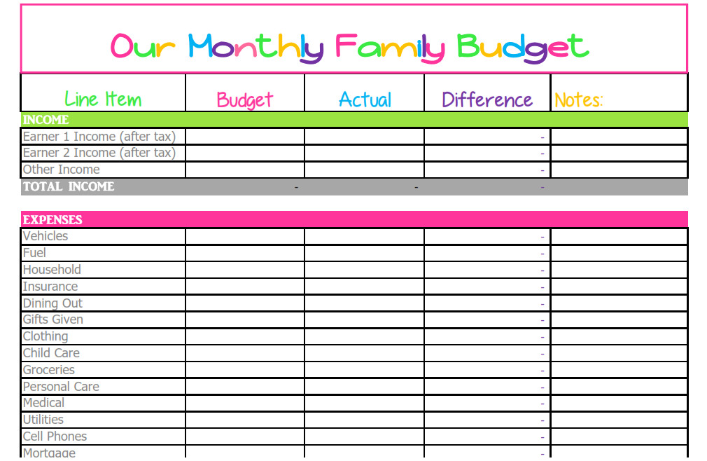 10 free budget spreadsheets excel