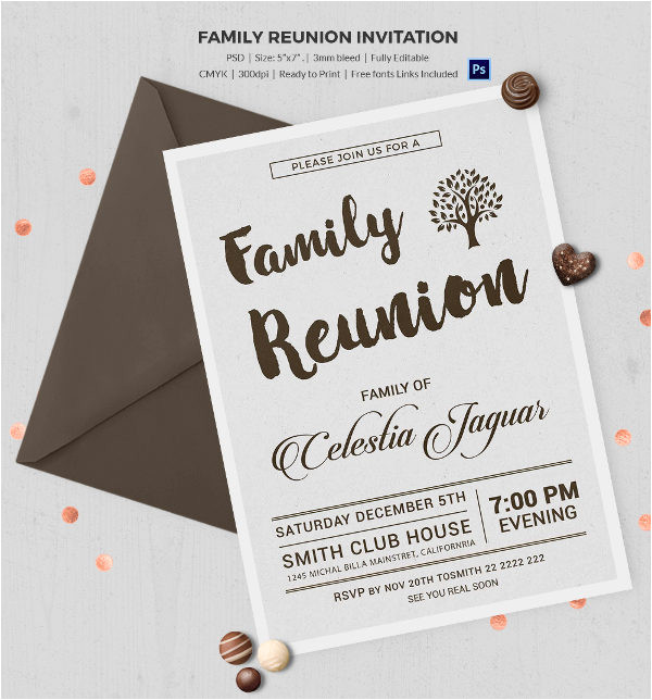Free Family Reunion Invitations Templates Download 32 Family Reunion Invitation Templates Free Psd Vector