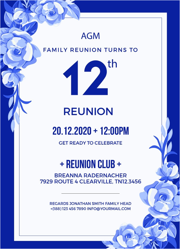 Free Family Reunion Invitations Templates Download 34 Family Reunion Invitation Template Free Psd Vector