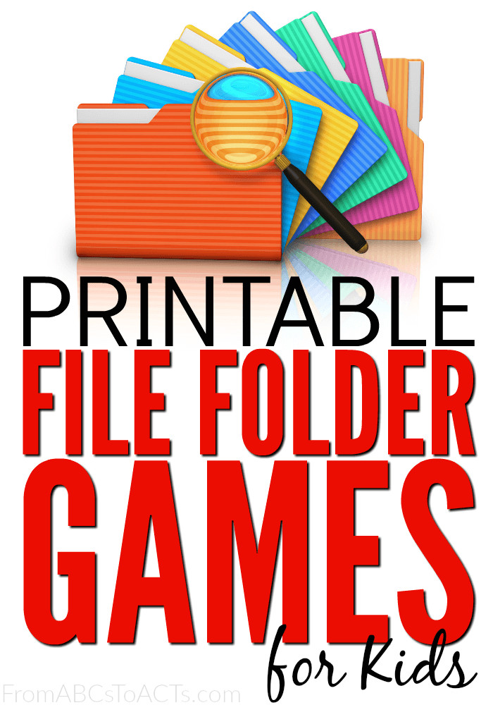 75 file folder games for kids