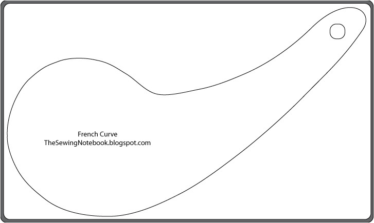 Free French Curve Template the Sewing Notebook Free Printable Patternmaking tools