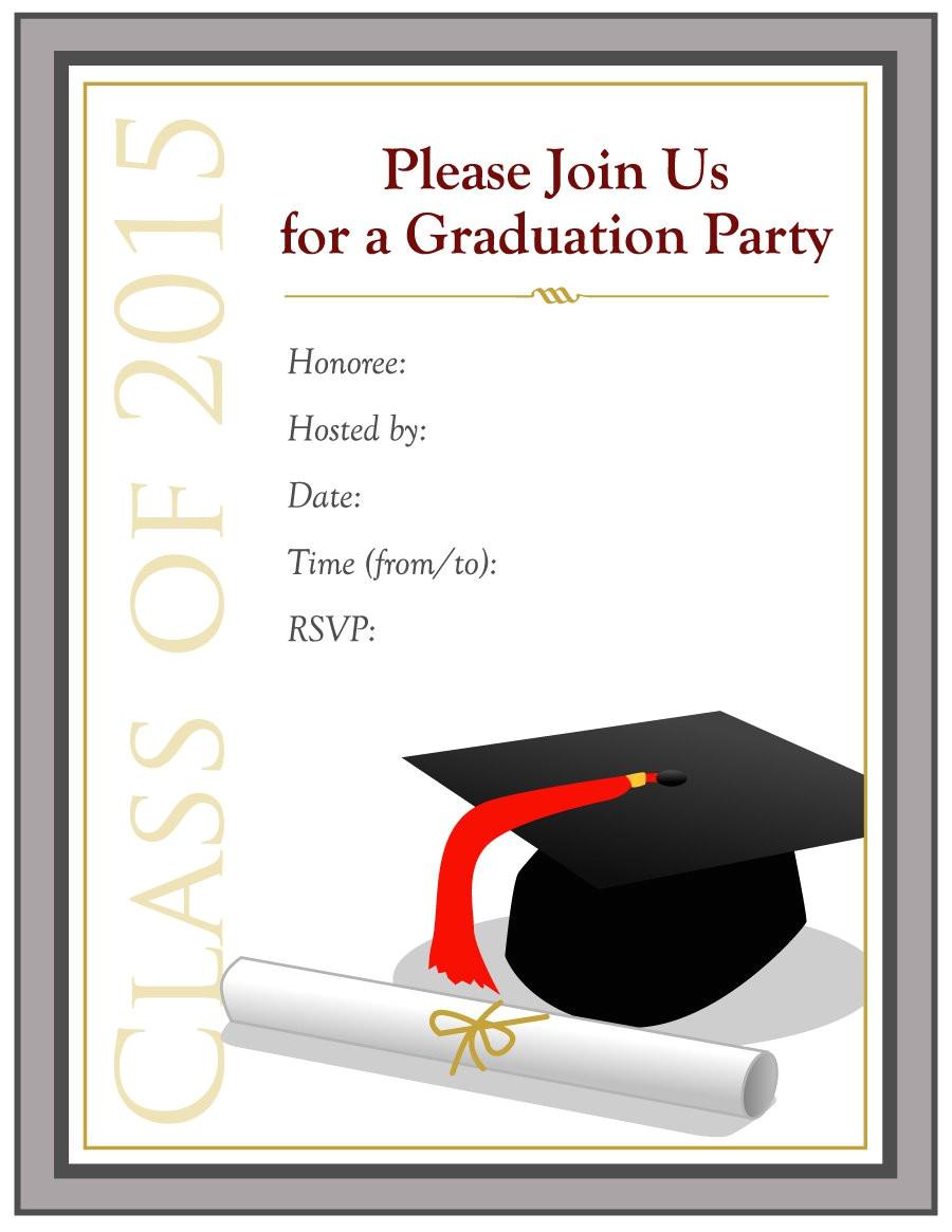 Free Graduation Announcements Templates Downloads 40 Free Graduation Invitation Templates Template Lab