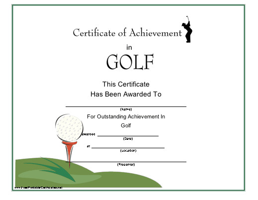 Free Hole In One Certificate Template 7 Best Images Of Free Printable Menu Templates for Golf