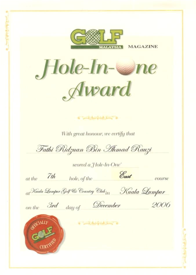 Free Hole In One Certificate Template Fathi 3