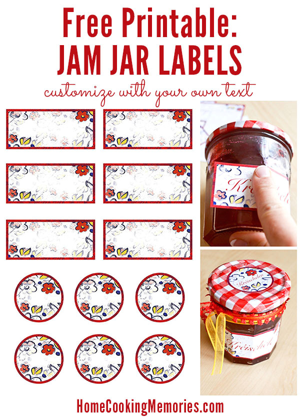 free printable homemade jam jar labels