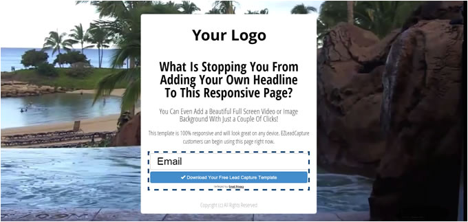 free responsive capture page template download