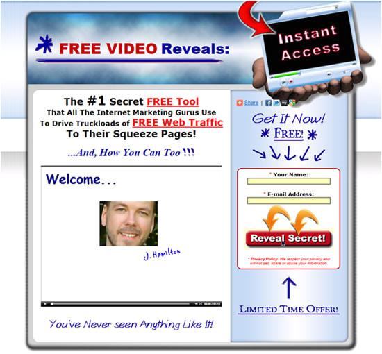 video lead capture pages