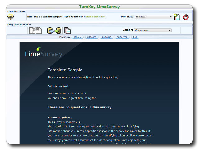 Free Limesurvey Templates Limesurvey Survey Application Turnkey Gnu Linux