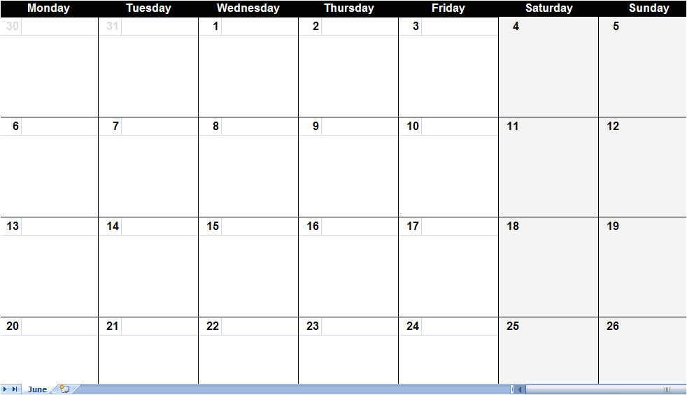 Free Monthly Calendar Templates 2014 16 Blank Month Calendar Template Images Blank Monthly
